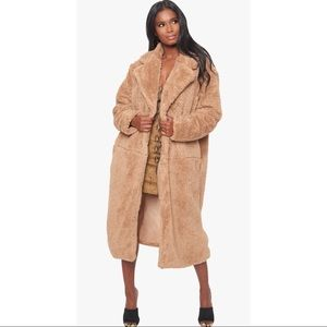 Faux Fur Long Coat size small
